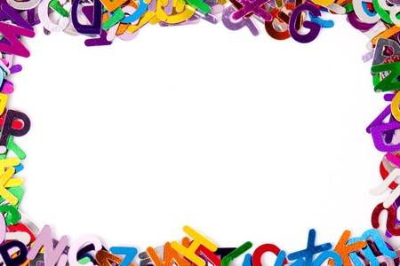 background with letters Stock Photo - 7070089