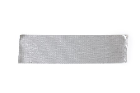 adhesive tape: silver duct tape on white background Stock Photo
