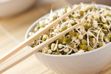 the mung beans in bowl Stock Photo - 7070457