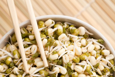 the mung beans in bowl photo