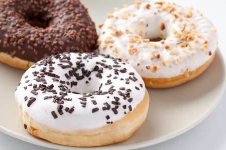 the photo shot of the sweet donuts photo