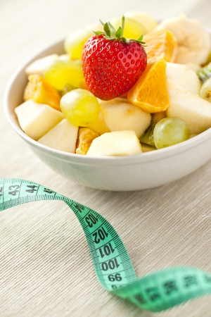 chupito de foto de ensalada de frutas. concepto de dieta
