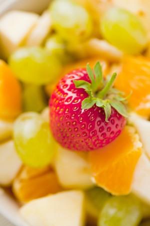 photo shot of fruit salad photo