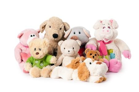 stuffed animal: photo shot of stuffed animals Stock Photo