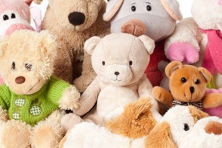 photo shot of stuffed animals photo