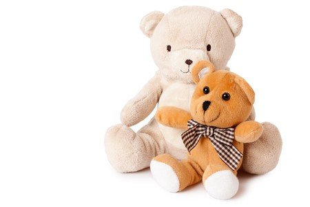 photo shot of teddy bears on white background Stock Photo - 7213365