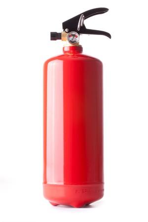 fire extinguisher on white background photo