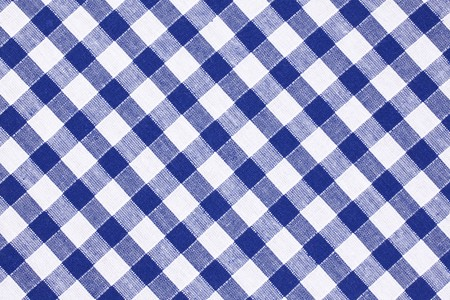 shot of the blue checkered tablecloth  photo