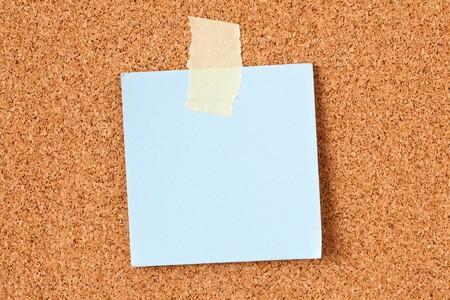 memo pad: the note paper on corkboard Stock Photo