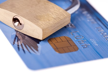 shot of credit card with padlock Stock Photo - 7266583