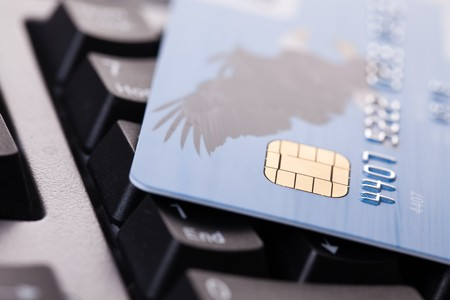 shot of credit card on computer keyboard Stock Photo - 7266571