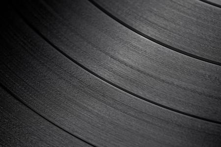 de macro-opname van vinyl record
