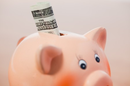 the piggy bank with american currency Stock Photo - 7364742