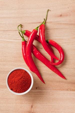 shot of spicy chili photo