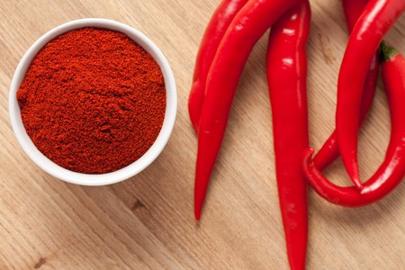 cayenne pepper: shot of spicy chili