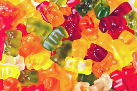 colourful candy: gummy bears Stock Photo