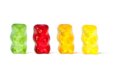 Gummy: photo shot of gummy bears
