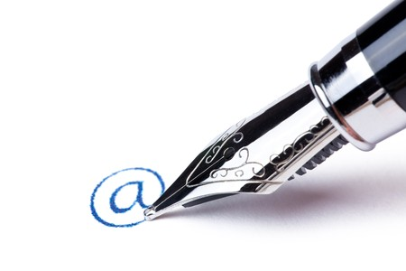 writing message with black pen : at Stock Photo - 7529157