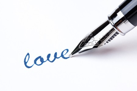 writing message with black pen photo