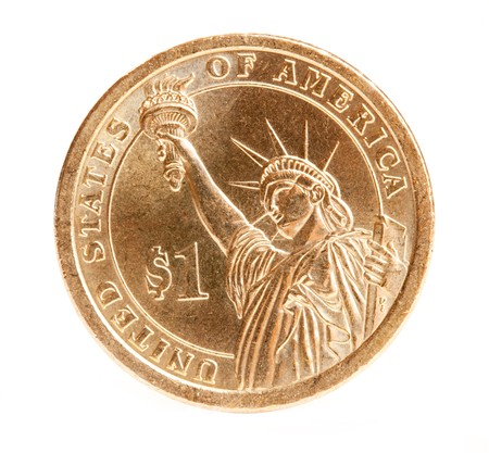 coin bank: one dollar coin