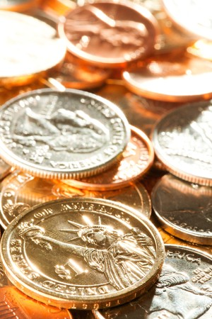 american coins background photo