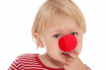 nez de clown: tourn? en studio d'enfant avec nez de clown