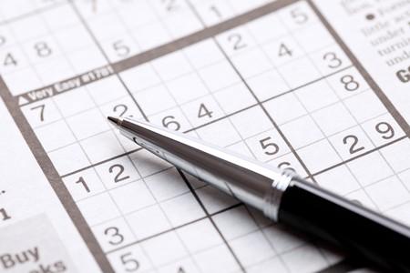 the photo shot of sudoku photo