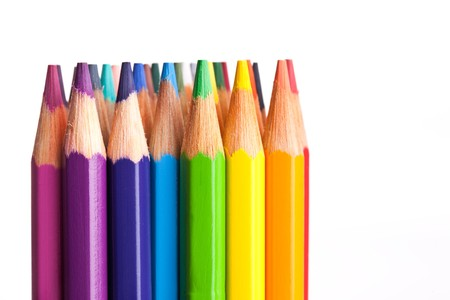 the crayons isolated on white background Stock Photo - 7615053