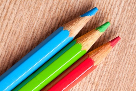 photo shot of crayons as rgb color Stock Photo - 7615091