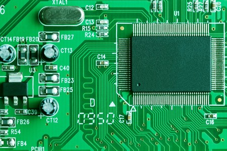the photo shot of electronic circuit board Stock Photo - 7669327
