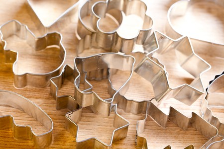 homemade cookies: the photo shot of cookie xmas cutter Stock Photo