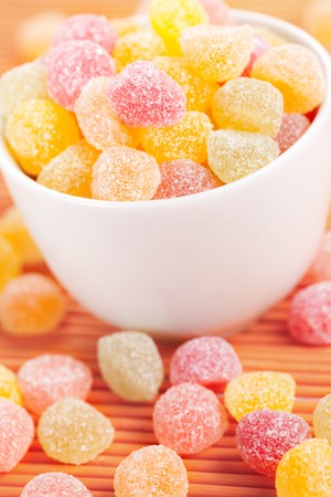 photo shot of sweet color candies photo