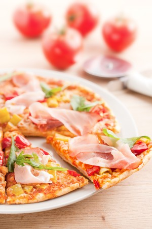 photo shot of pizza on plate Stock Photo - 7669457