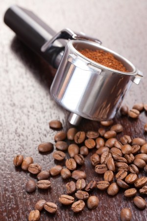photo shot of coffee handle photo