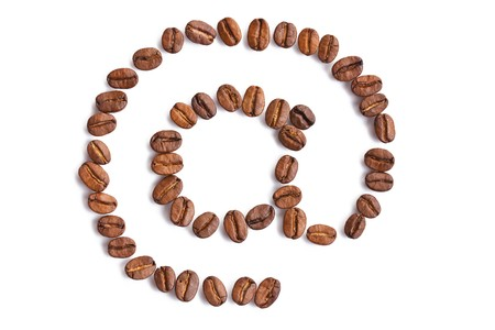 photo shot of email symbol made from coffee beans Stock Photo - 7669371