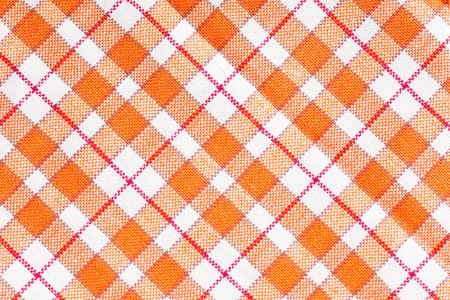 red tablecloth: photo shot of checkered pattern Stock Photo