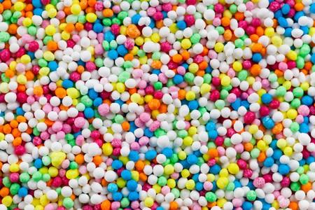 photo shot of colorful sugar sprinkles photo