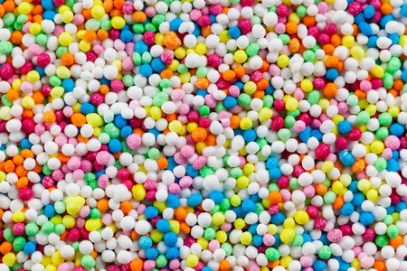 photo shot of colorful sugar sprinkles Stock Photo