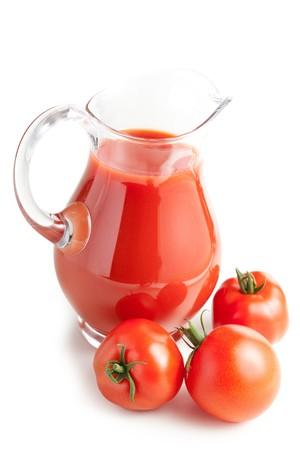 photo shot of tomato juice photo