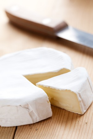 brie: photo shot of brie cheese Stock Photo