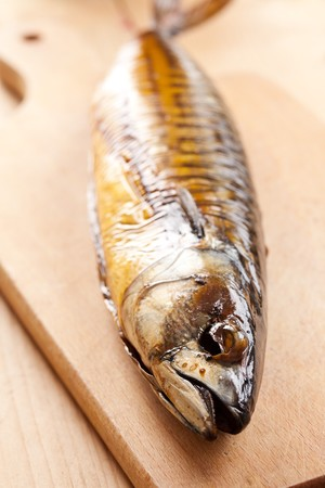 golden fish: photo shot of smoked mackerel