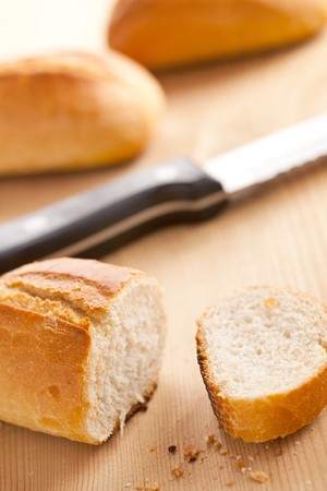 fresh baguette Stock Photo