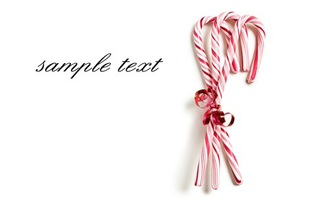 the xmas concept with stripy candy cane Stock Photo - 7898628