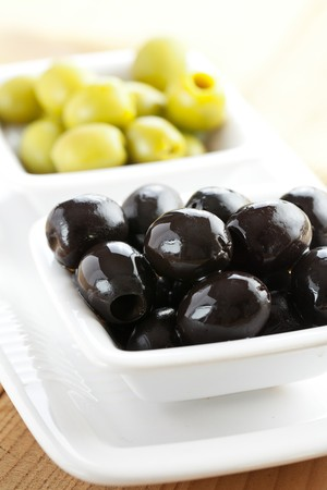 green and black olives photo