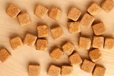 brown cubes of sugar photo