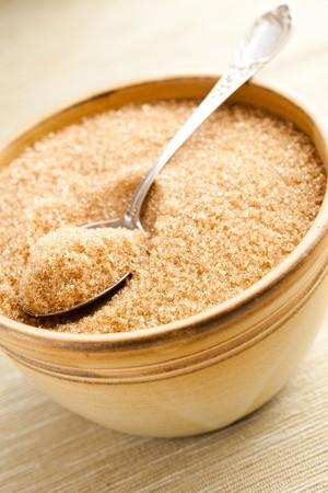 sucrose:  brown sugar in bowl