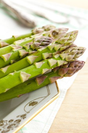 fresh green asparagus photo