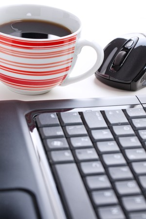 photo shot of computer mouse and coffee cup Stock Photo - 8013571