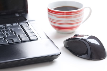 computer mouse and coffee cup Stock Photo - 8013554