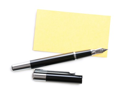business card and pen Stock Photo - 8013510